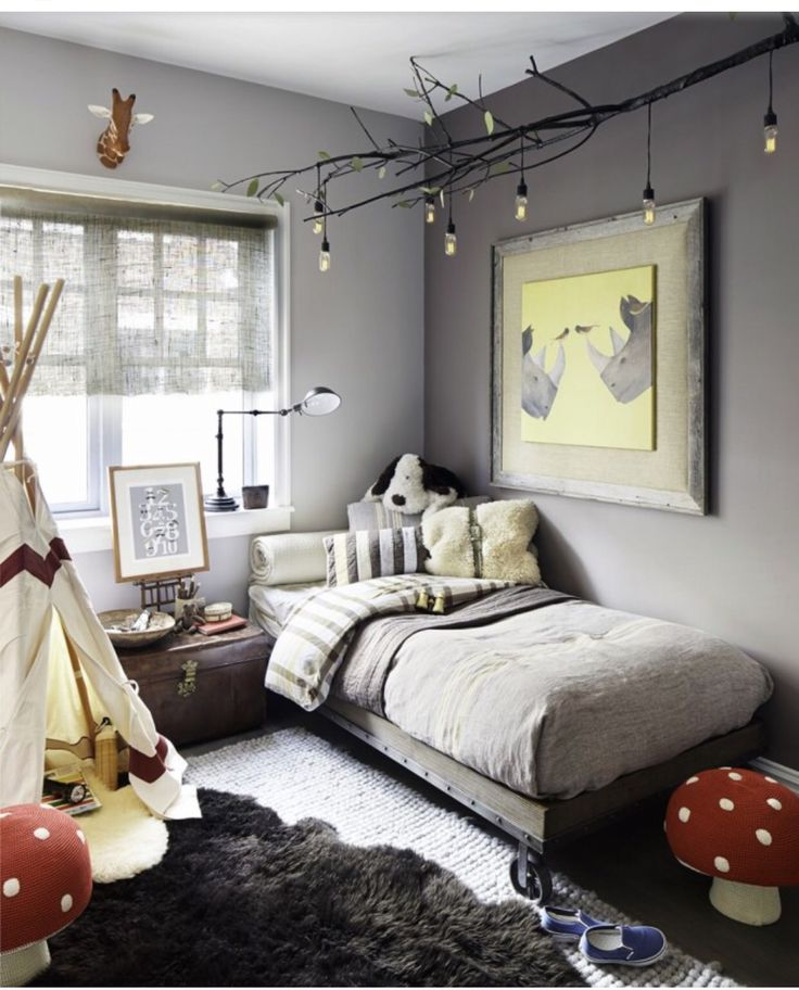Grey color scheme with pops of red