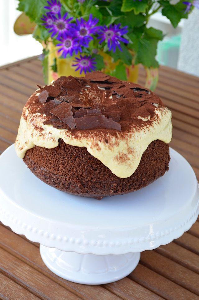 Una torta per la Festa del Papà: Fluffosa al Tiramisù A Cake for Father's Day: Tiramisù Chiffon Cake