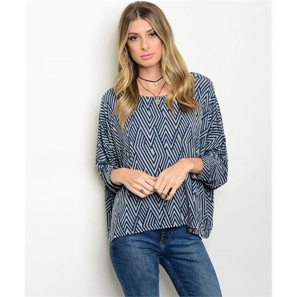 Women's Navy Blue Tunic Blouse