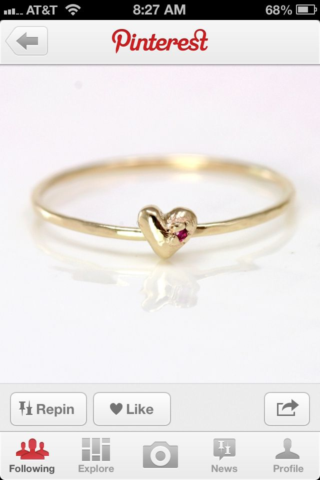 Simple gold promise ring