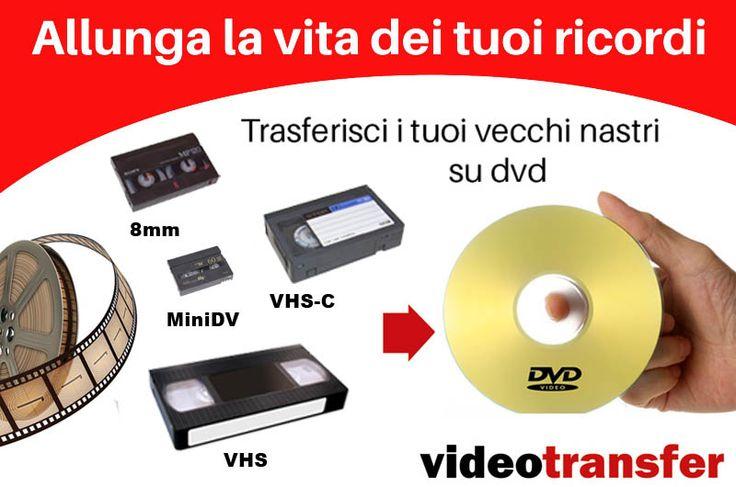 Trasferiamo  VHS, 8MM, MNI DV su supporto DVD