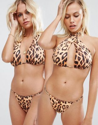 Hot As Hell - Haut de bikini multiposition motif animal