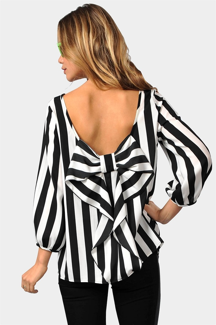 {Waldorf Bow Blouse} bow-back