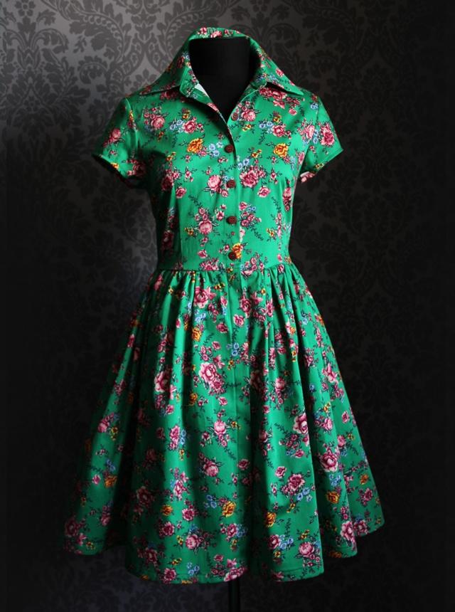магазин дизайнерской одежды и аксессуаров Хохловка: Зеленое платье с цветами Amano платья и сарафаны