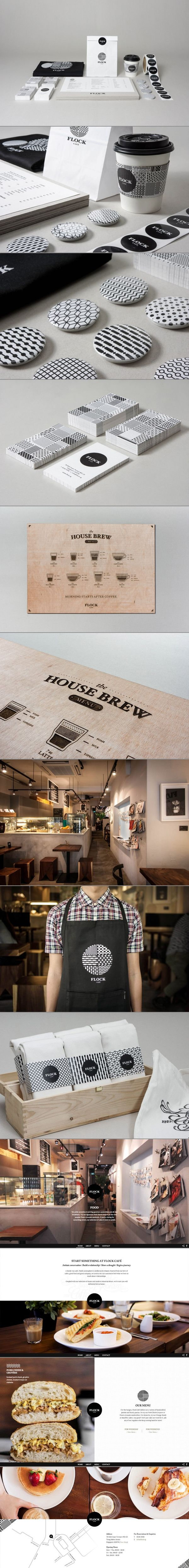 Flock Café by Kilo Studio, via Behance. Time to eat #identity #packaging #branding PD