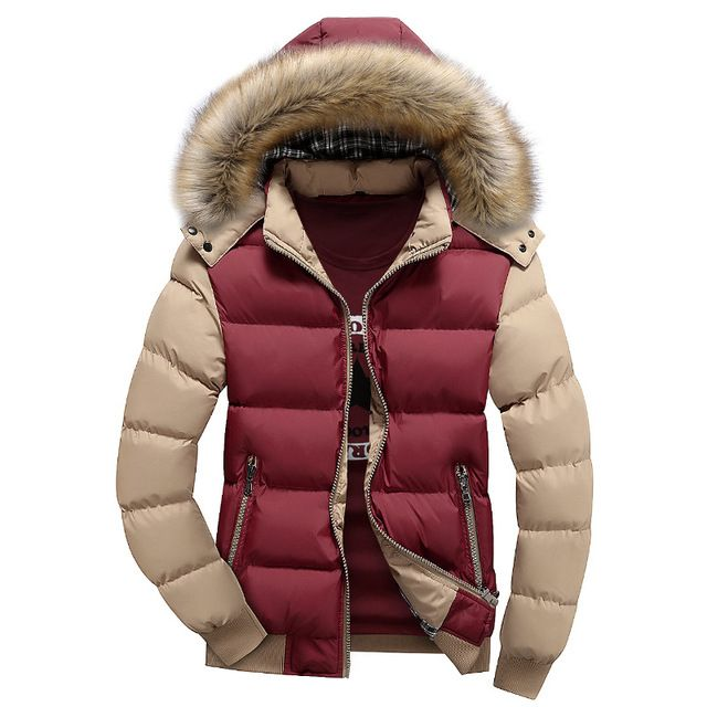 9 Men Hood Jacket Color Warm Winter With Fur Down Hat PkZiXu