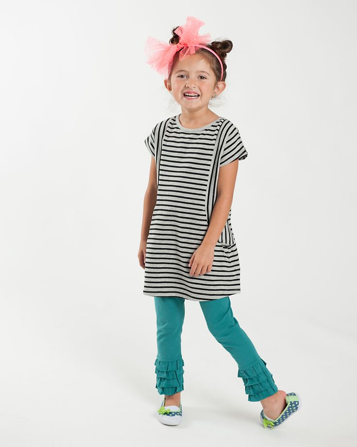 Live to Play Tunic | Striped tunic with deep pockets for storing found treasures. | www.peekaboobeans.com