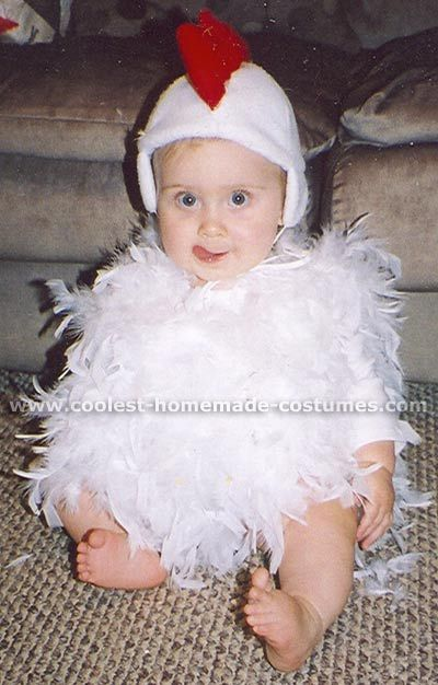 Halloween 2004 Coolest Homemade Costume Contest Runner-Up. Baby Chicken costume submitted by Melissa from Sherwood, OH...