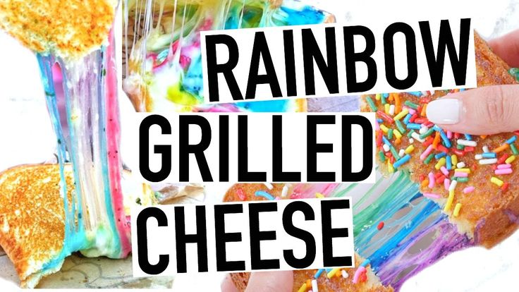 DIY Rainbow Grilled Cheese! How To Make Rainbow Grilled Cheese + Vegan!