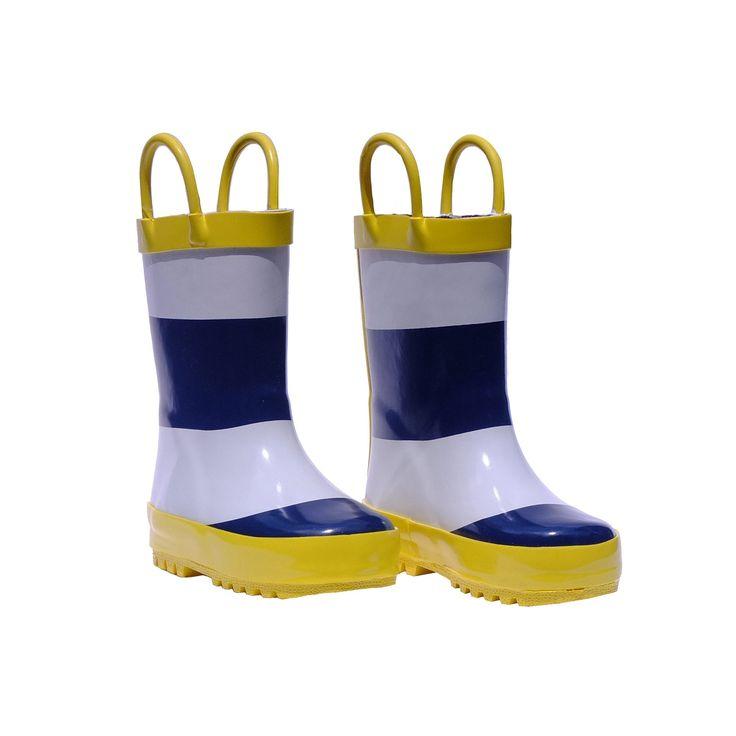 Splashin' Wellies Rain Boots in Blue Stripe