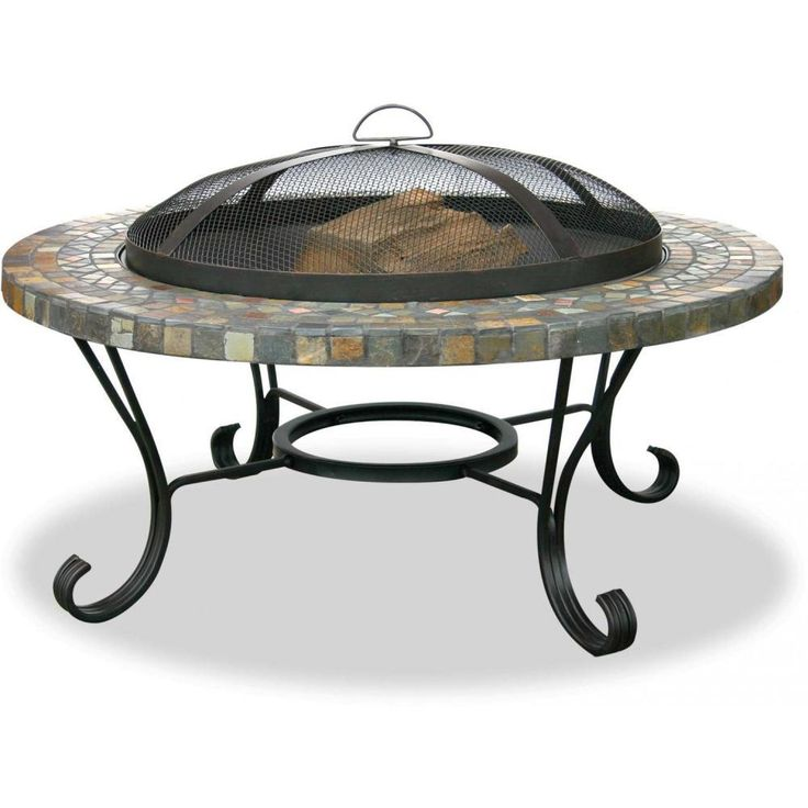 Serenity Health   Mosaic Tile Fire Pit W/ Copper Accents $229.95   This Fire  Table
