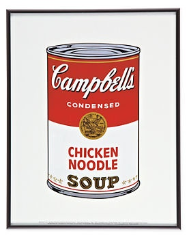 Warhol, Campbell's Soup, Chicken Noodle - Wall Art - Accessories ...