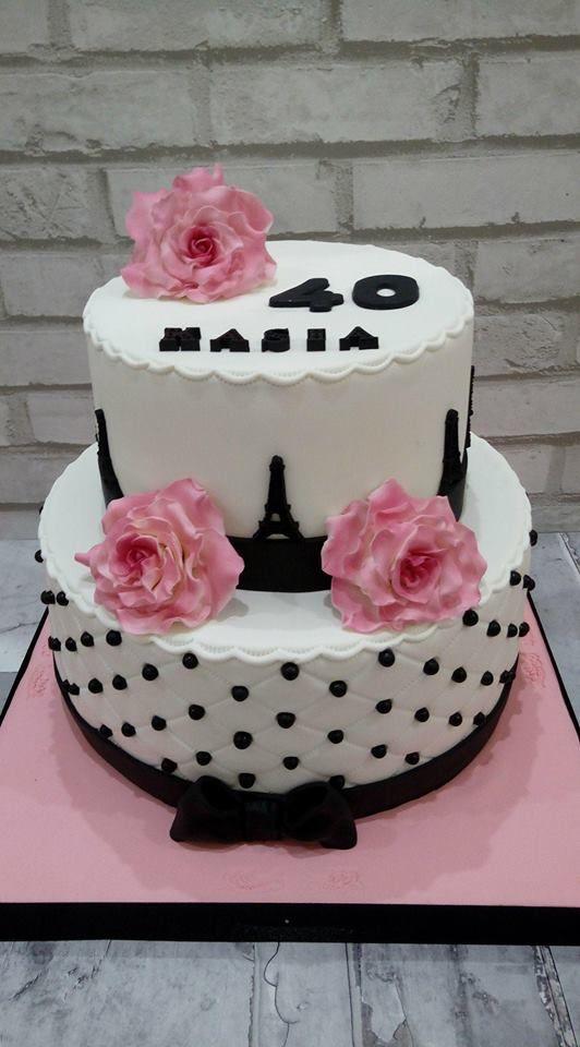 Tort glamour na 40 urodziny