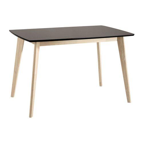 Tavolo nero in legno per sala da pranzo L 120 cm