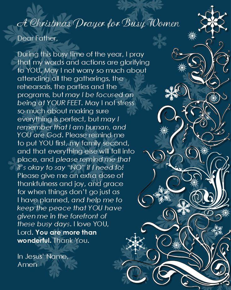 A Christmas Prayer - FREE PRINTABLE!