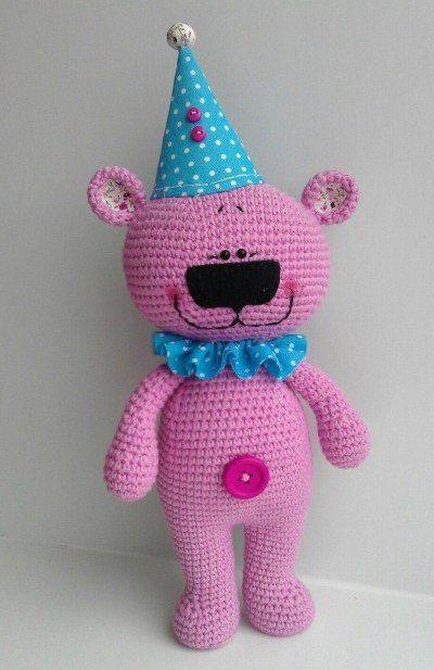 pozdravishka brinquedo do urso esquema de tricô classe descrição mestre