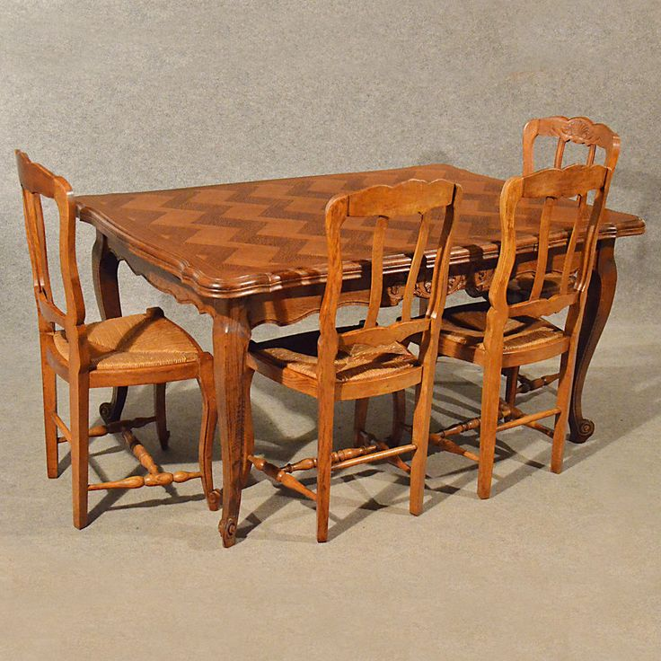 antique extending kitchen dining table french oak draw leaf 4 10 seater c1930