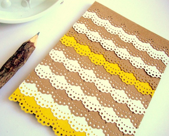 Paper lace notecard via Etsy @ashleypahl $6