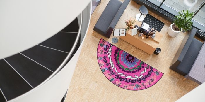 Lindström Group offers a rental mat service an easy and affordable solution that keeps the look of your company in tip-top shape every single day.   #lindstromgroup #matservices #mat #designmat #interiordesign #carpet #companyimage #brandimage #mandala #shapemats #semicircle #matrentalservice #rental #customerspecificdesignmat #image