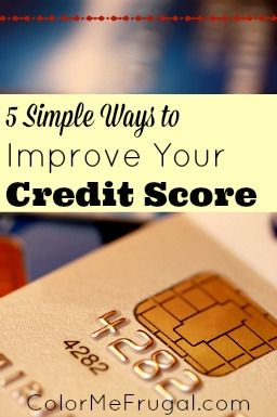 Your credit score is important for many reasons- which is why so many people want to improve theirs! Here are 5 simple ways to improve your credit score starting TODAY.