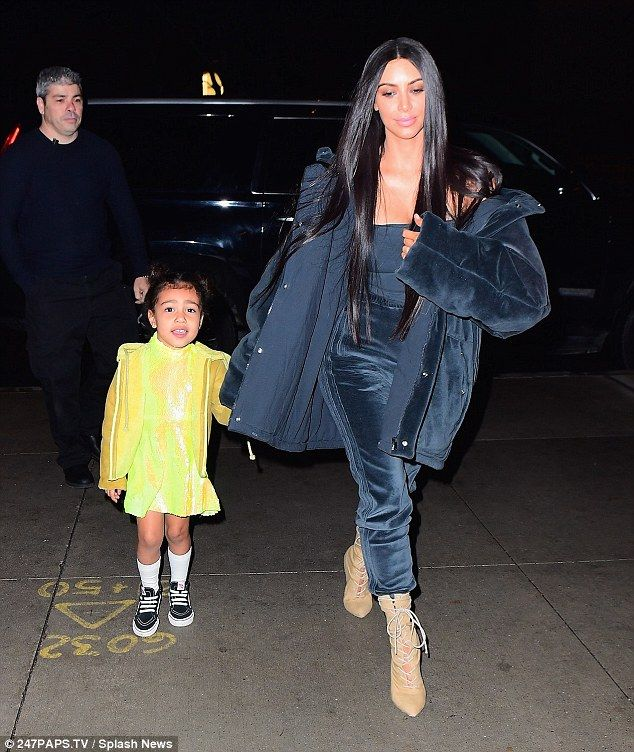 Two kute: Kim Kardashian and North West had a mommy-and-me date night on Tuesday when they went to see Swan Lake at the Lincoln Center For The Performing Arts in New York City