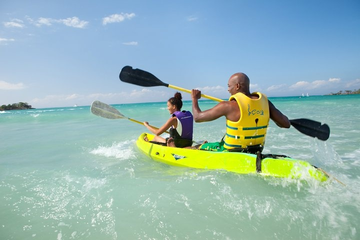 Who doesn't love to kayak in the clear blue waters of the Caribbean? ;) At Couples Negril, Jamaica