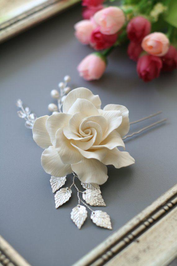 Gardenia Hair Pin Bridal Hair Flower Ivory Wedding Hair Flower Etsy Bridal Hair Accessories Flower Wedding Hair Flowers Bridal Hair Pins