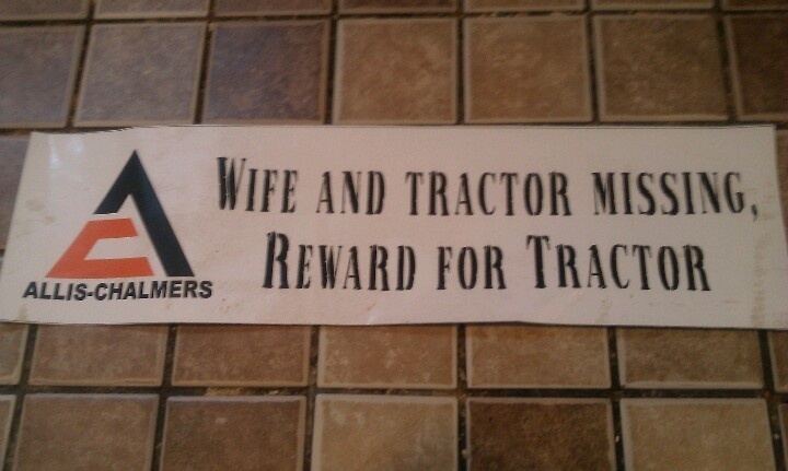 Tractor missing.         OH  NO!