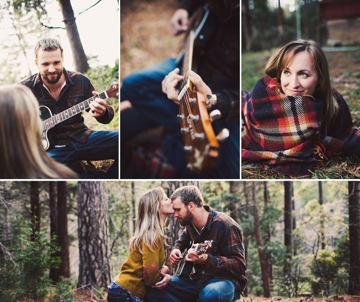 woods-type engagement shoot.