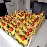 Bananen raceautos