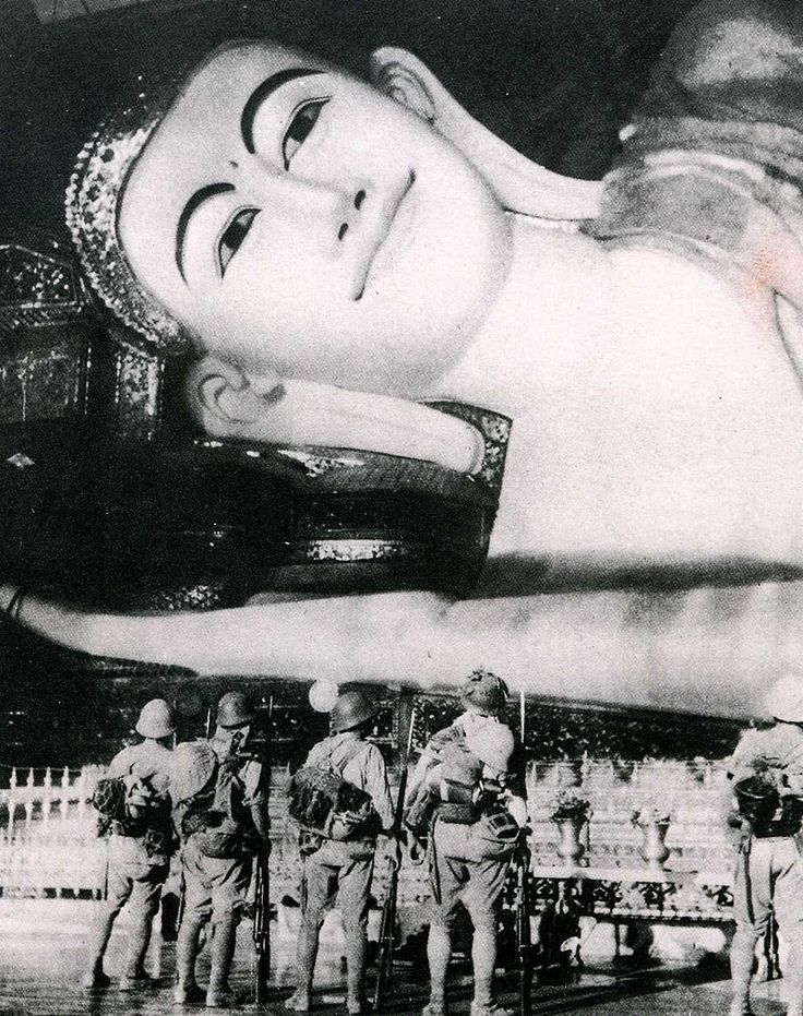 Japanese soldiers enjoy sightseeing during Burma Campaign, 1942. Asian Art & History