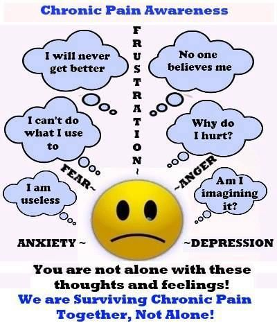 I had these thoughts mostly in the beginning of my illness. Now that my life has adjusted to living with Fibromyalgia, and I don't care what anyone else thinks, then it's much better. Not saying you won't ever deal with anxiety or depression later on, but just wanted you to know that you are not alone and it does get better.