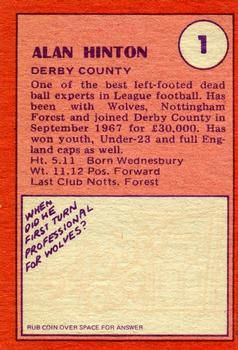 1974-75 A&BC Gum #1 Alan Hinton Back