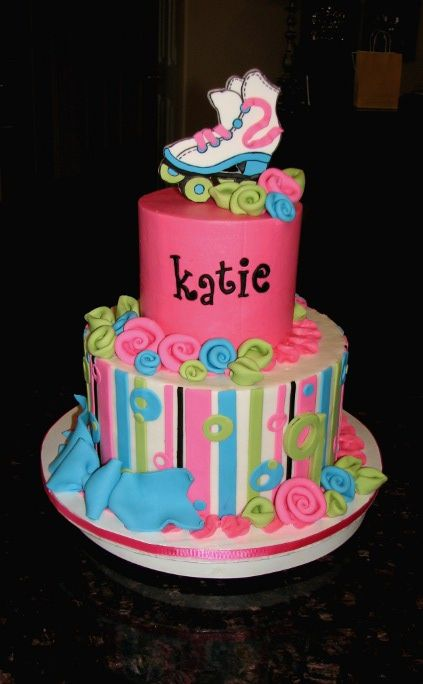 Katie's Roller Skate Cake | Made this one for my friend's da… | Flickr