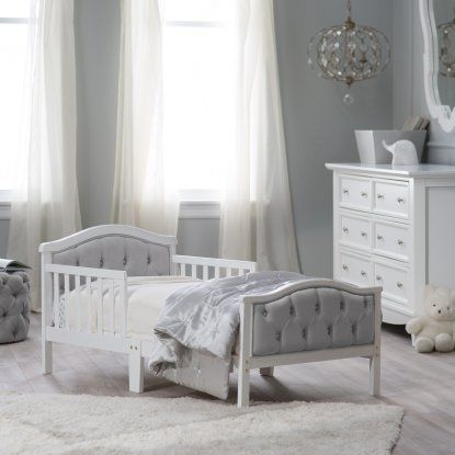 orbelle upholstered toddler bed grayfrench white toddler beds at hayneedle