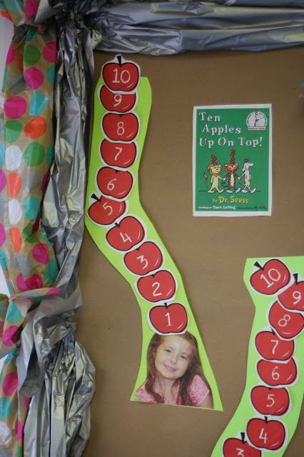 Prek Math Activity for Ten Apples Up On Top. So cute!