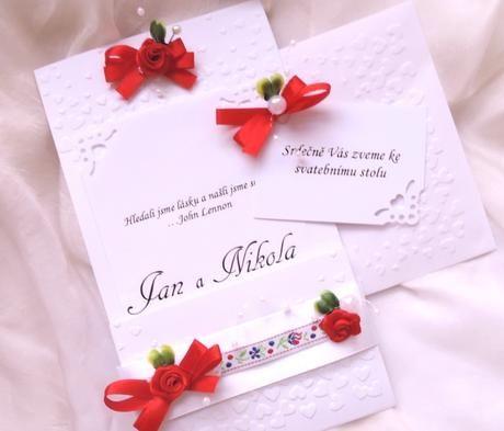 """svatební oznámení """"Kapsa 7"""","""