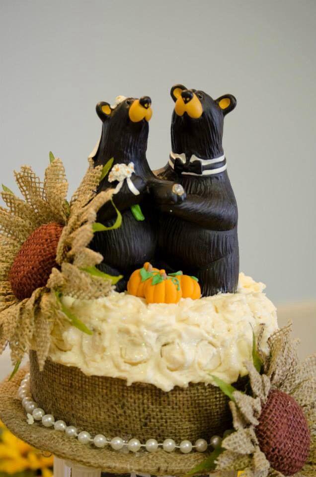 Bear Cake Topper From Cabelas Fallwedding