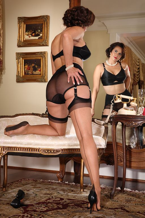 glamour stockings heels