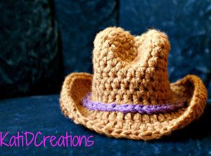 Yeehaw! How much more adorable can babies get? We have your answer with the Unforgettable Newborn Cowboy Hat crochet pattern. | AllFreeCrochet.com