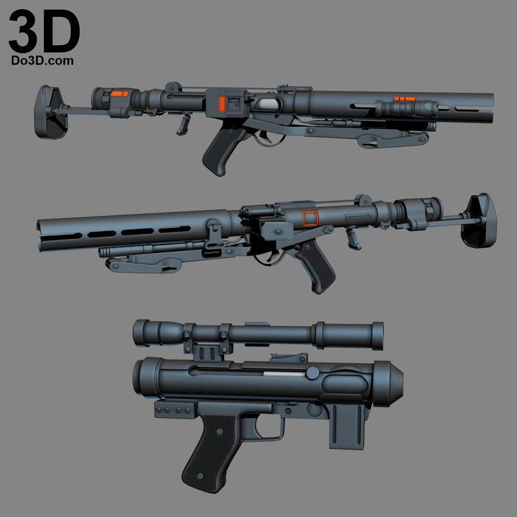 3D Printable Model: Imperial Death Trooper Gun Set (Blaster Rifle Pistol E-11) from Rogue One: A Star Wars Story | Print File Formats: STL – Do3D.com