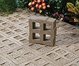 Permeable pavers (EcoGrid by Hanover Pavers)