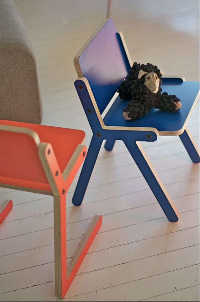 New chairs for playful kids! Design Ole Petter Wullum.