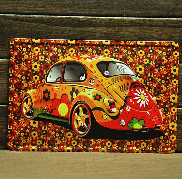 Aliexpress.com : Buy [ Mike86 ]Flower Cool Car Tin sign Art  wall decor House Cafe Bar Vintage Metal signs A 208 Mix order 20*30 CM  from Reliable sign suppliers on Mike86 Tin Signs Store