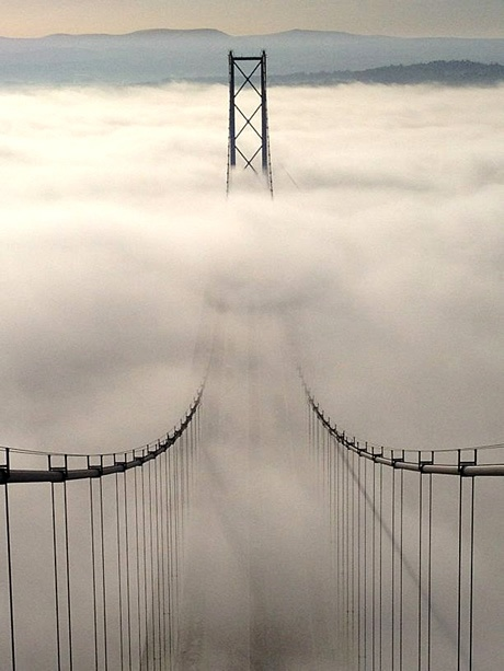 Edinburgh's Forth Road Bridge...Looks like San Fran