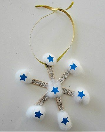 Snowflake Christmas Ornament Craft from Kiboomu