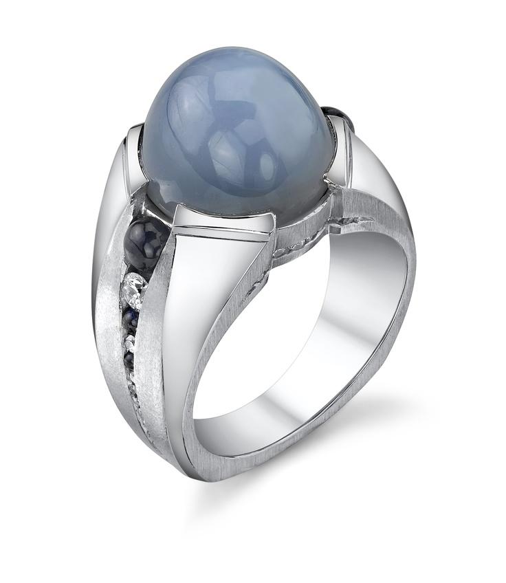 Star Sapphire gents ring by Mark Schneider.