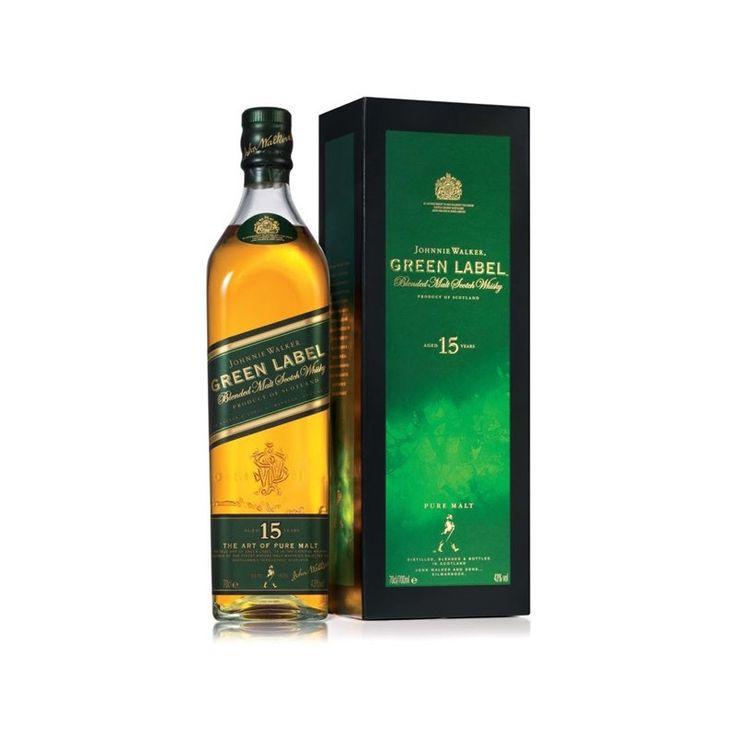 Szkocka Whisky Johnnie Walker Green Label 15YO 43% 0,7L Karton Whisky ta zdobyła wiele nagród, między innymi podczas konkursu World Spirits Competition w San Francisco w 2006 r., gdzie otrzymała mi...