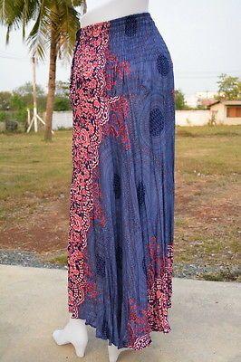 Юбка AB212 хиппи Богемский макси цыганский повседневный coco пряжка длинная юбка из хлопка женщина