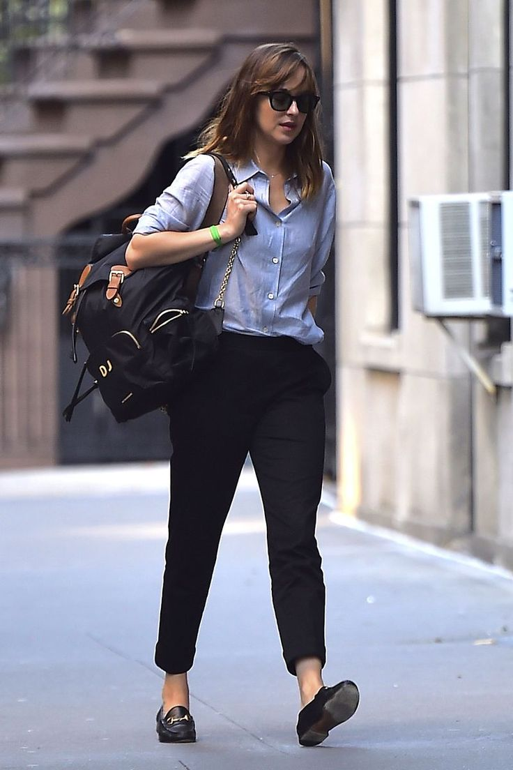Dakota Johnson is seen in Soho on August 30, 2016 in New York City.